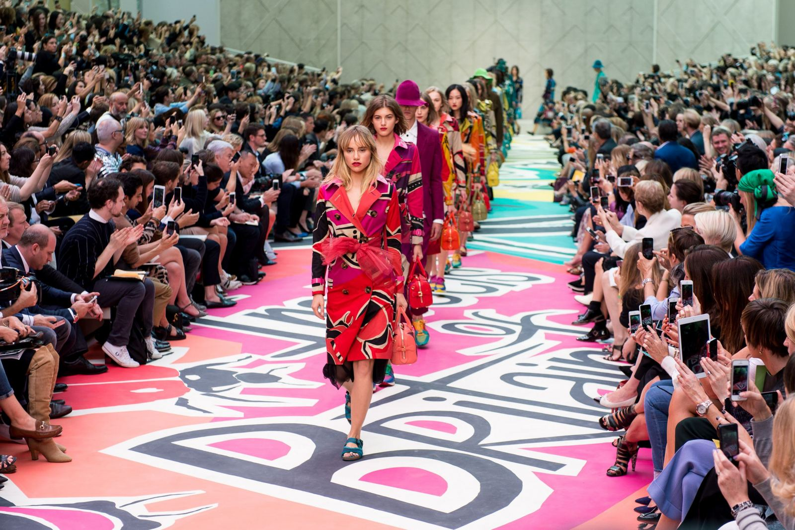 The finale of Burberry at London Fashion Week led by Suki Waterhouse
