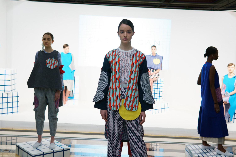 Pan image of the Cassey Gan F18 presentation at Fashion Scout London Fashion Week