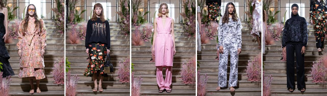 lead image for a piece on Malene Oddershede Bach's SS19 show at London Fashin Week featuring a small collection of key looks photographed by Chris Yates for Fashion Voyeur Blog