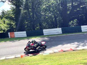 Bo on a Honda Fireblade at a No Limits Track Day in July 2019 at Cadwell Park