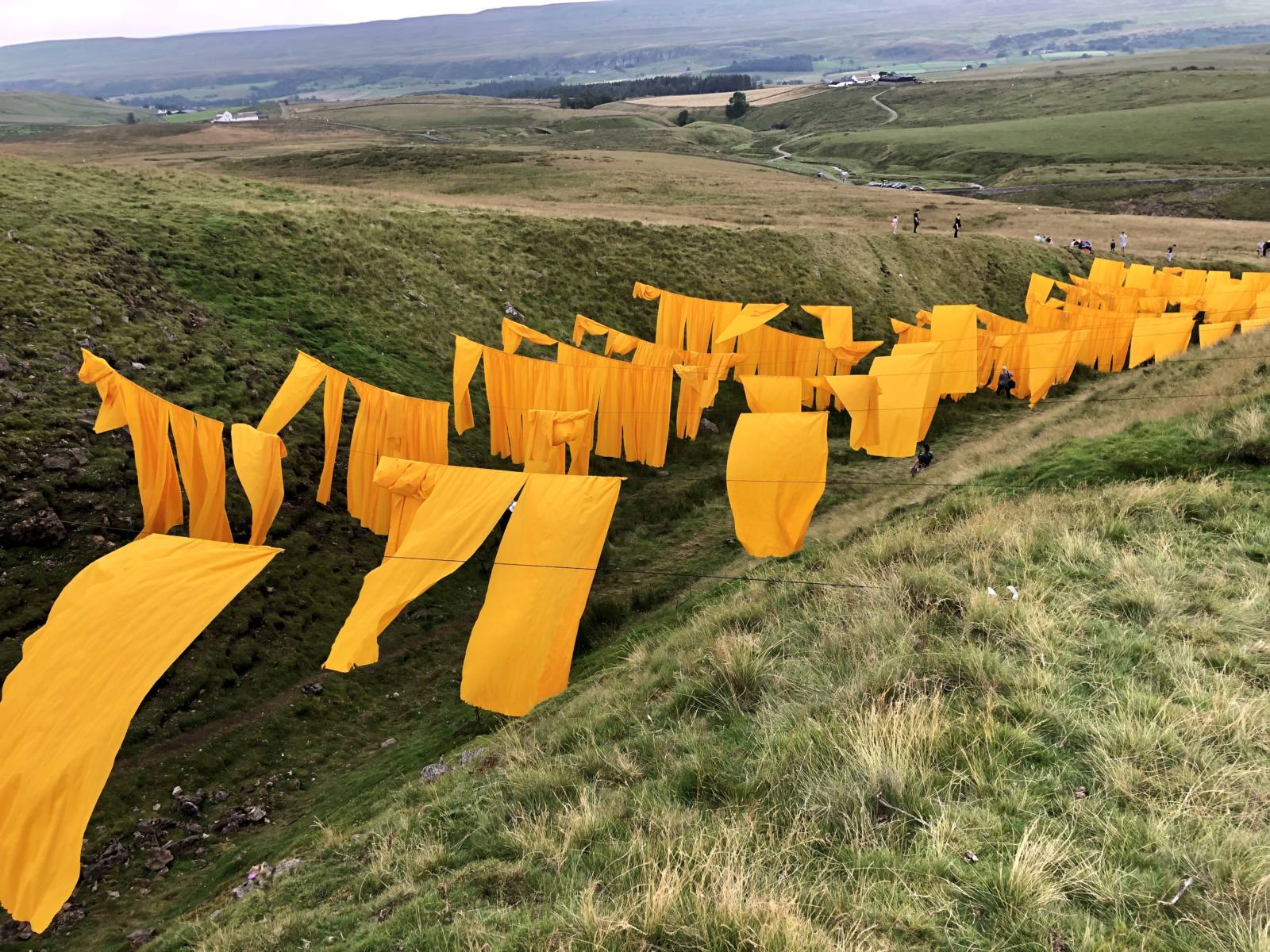 Steve Messam's Hush, a large scale temporary art installation at Bales Hush in Upper Teesdale. Image taken by Pixie Tenenbaum for Fashion Voyeur
