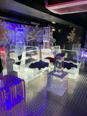Inside the New York themed Grey Goose Ice Bar at STACK Newcastle